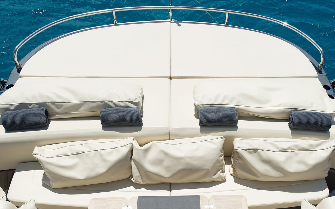 Motor Yacht ALVIUM aft Deck Sunpad