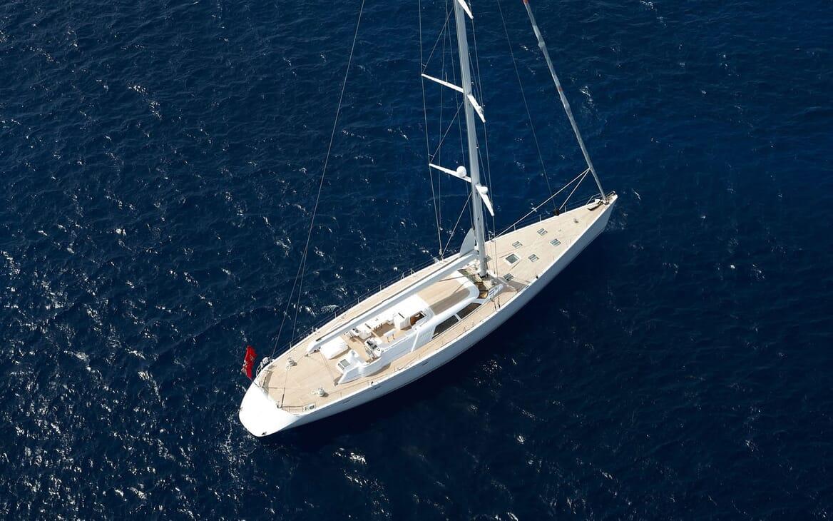 Sailing Yacht SPIIP Areial Exterior