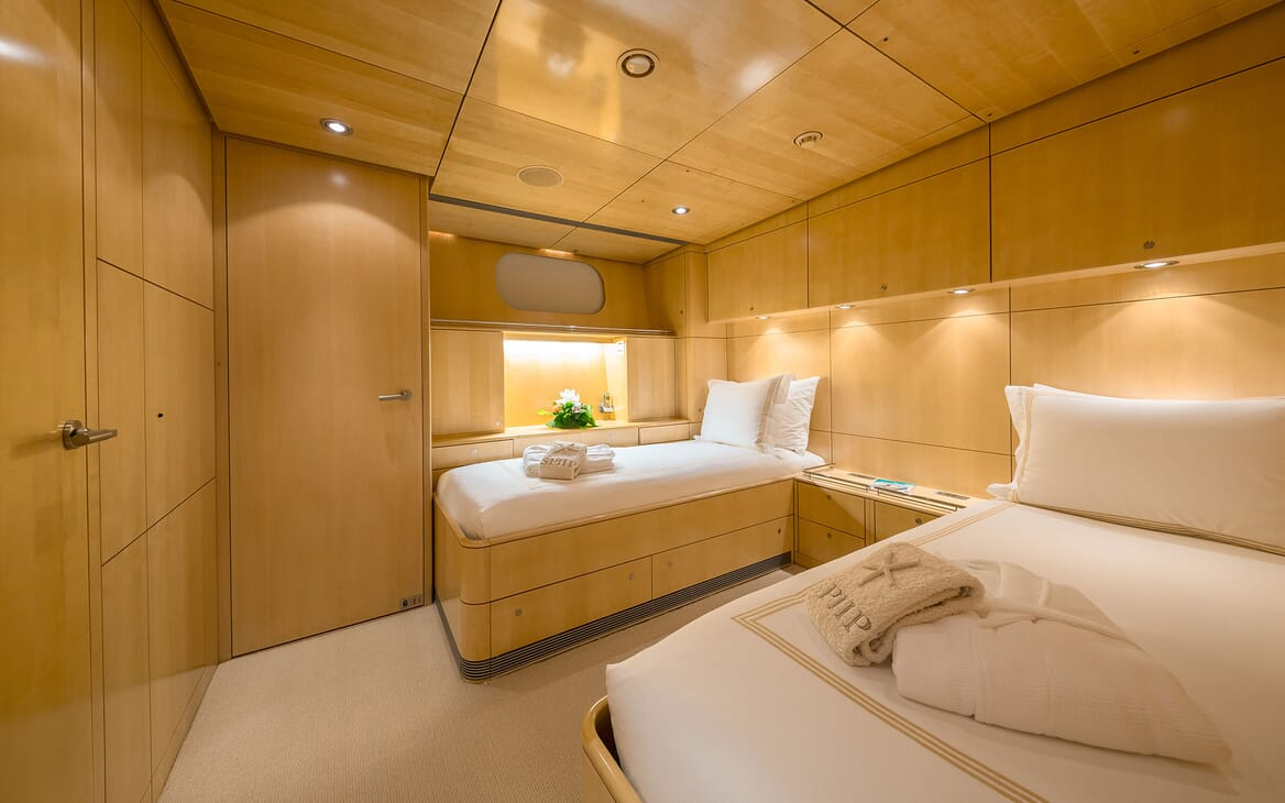 Sailing Yacht SPIIP Twin Guest Stateroom