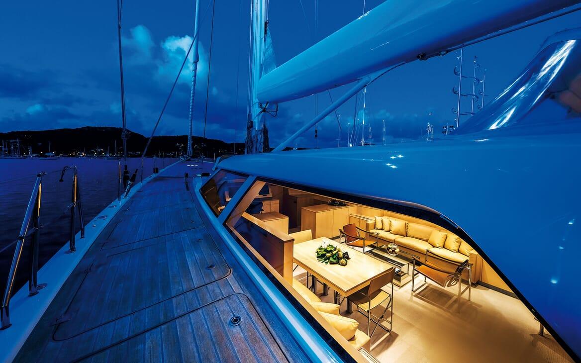 Sailing Yacht SPIIP Deck Walkway