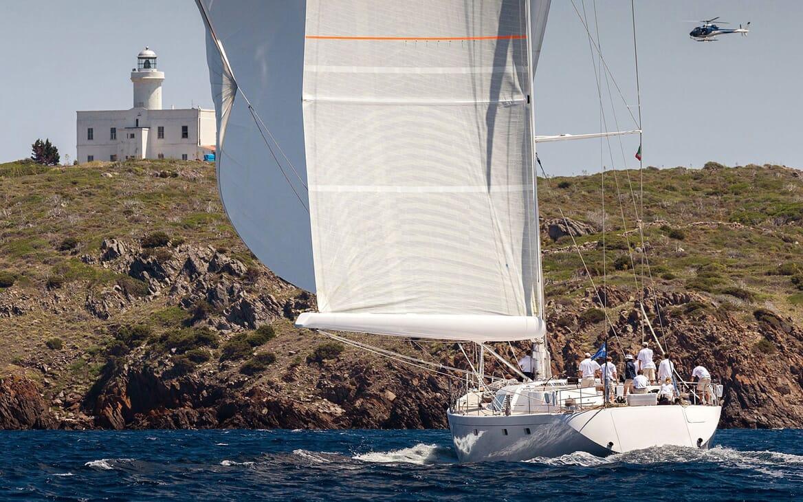 Sailing Yacht SPIIP Aft Underway