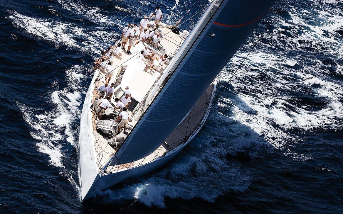 Sailing Yacht SPIIP Underway