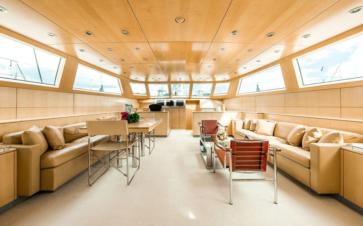 Sailing Yacht SPIIP Main Deck Salon