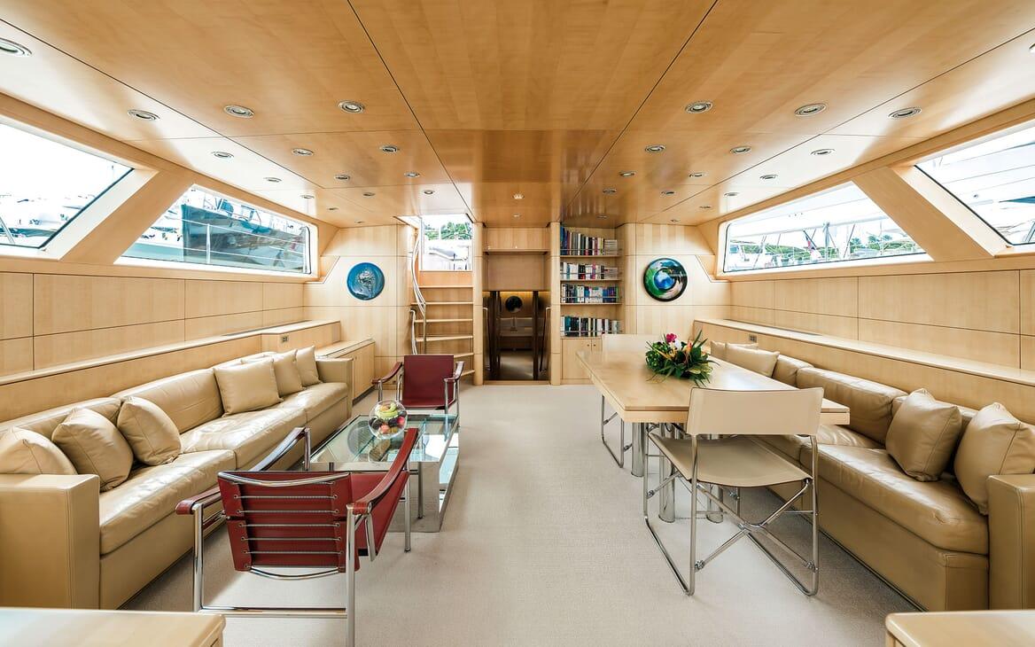 Sailing Yacht SPIIP Main Deck Salon & Dining