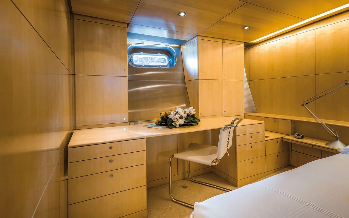 Sailing Yacht SPIIP Master Stateroom Desk