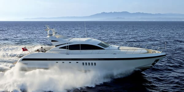 Motor yacht KAWAI hero shot on water