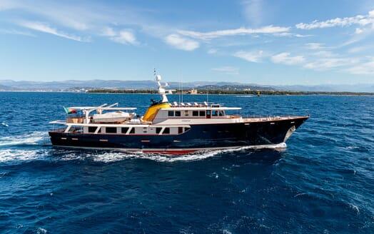 Motor Yacht ARIONAS Side Profile Underway