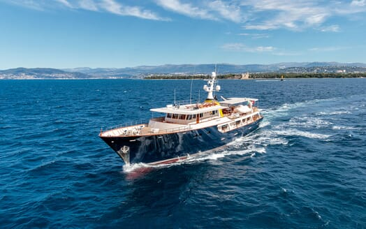 Motor Yacht ARIONAS Bow Exterior Underway