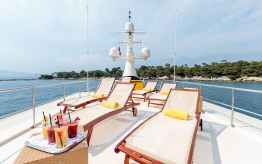 Motor Yacht ARIONAS Sun Deck Loungers