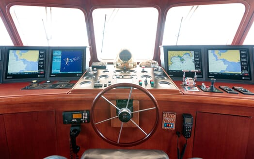 Motor Yacht ARIONAS Wheelhouse