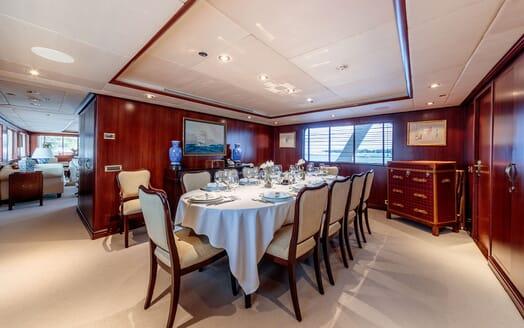 Motor Yacht ARIONAS Main Deck Dining Room