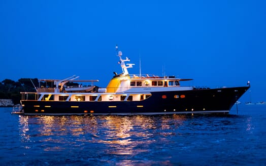 Motor Yacht ARIONAS Evening Profile