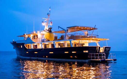 Motor Yacht ARIONAS Evening Aft