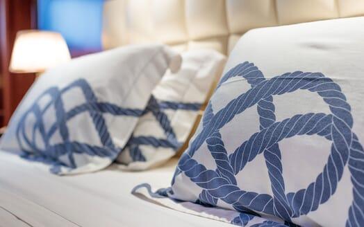 Motor Yacht ARIONAS Pillow Detail