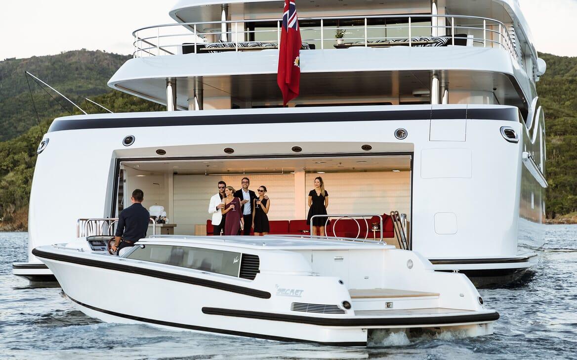 Motor Yacht SECRET Tender and Swim Platform