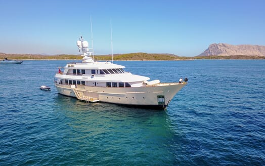 Motor Yacht Soprano at anchor