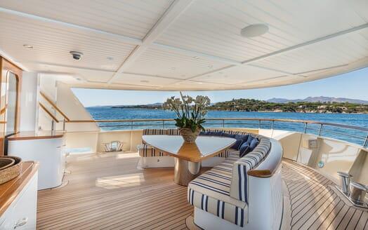 Motor Yacht Soprano main deck