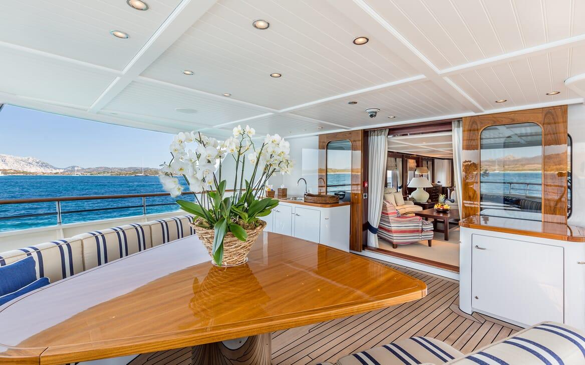 Motor Yacht Soprano deck
