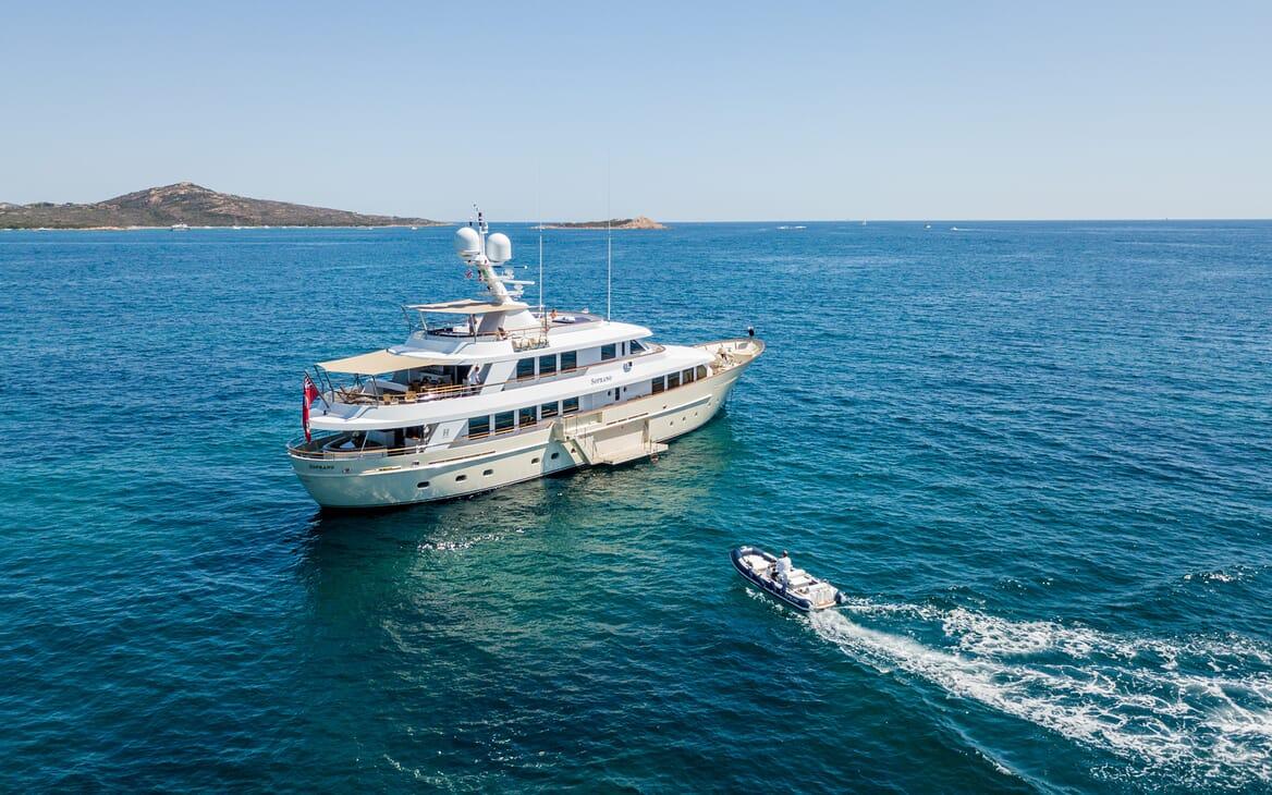 Motor Yacht Soprano and tender