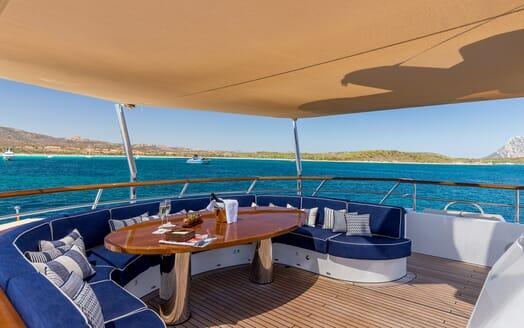Motor Yacht Soprano aft