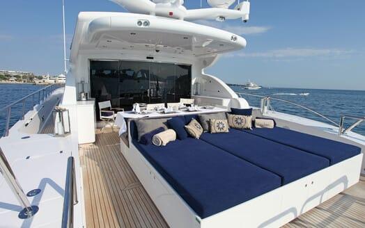 Motor Yacht PHOENICIAN Deck Sunpad