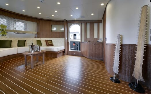 Motor Yacht Bully main saloon