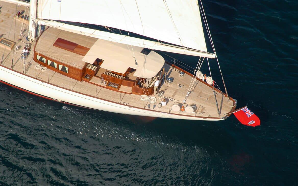 Sailing Yacht GWEILO Aft View