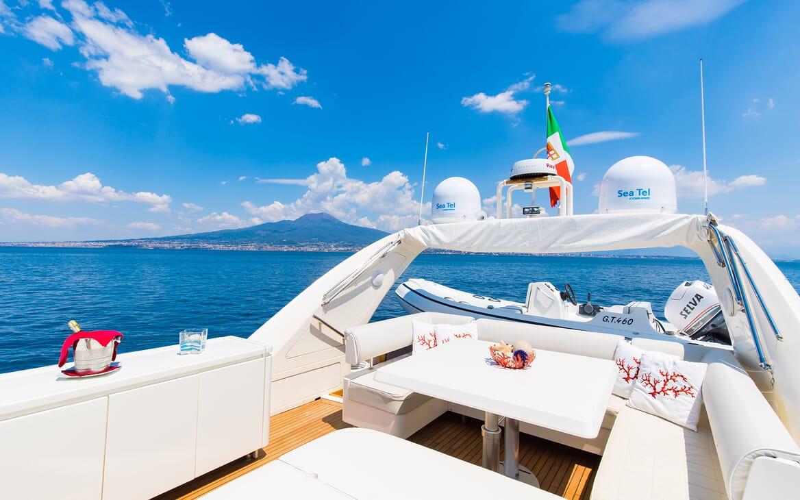 Motor Yacht Riviera deck
