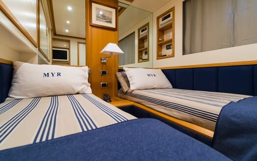 Motor Yacht Riviera twin stateroom