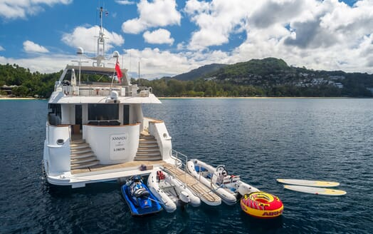 Motor Yacht XANADU OF LONDON Aft Deck Toy Selection