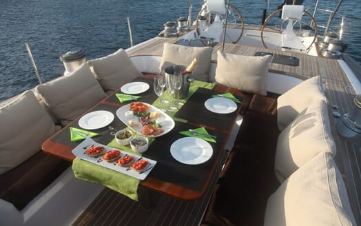 Sailing Yacht Constanter aft seating