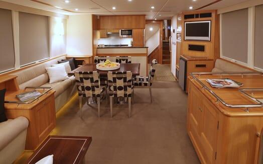 Motor Yacht TASMAN Main Saloon