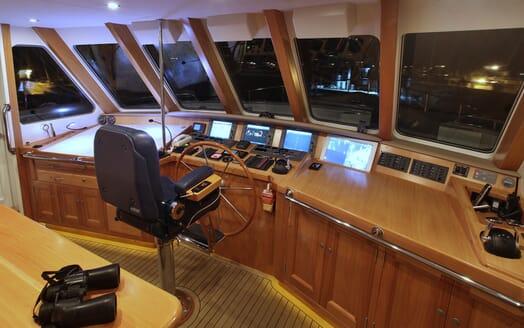 Motor Yacht TASMAN Wheel House Binoculars