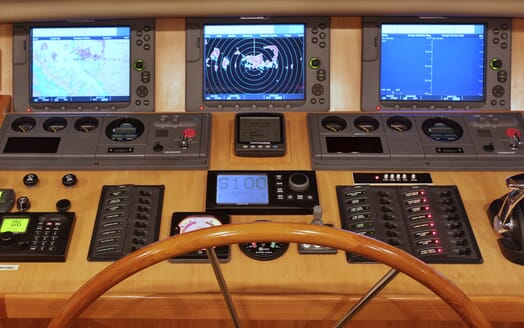 Motor Yacht TASMAN Wheel House