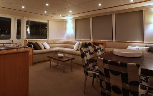 Motor Yacht TASMAN Main Saloon Lounge View
