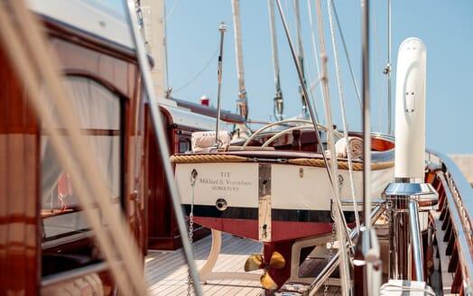 Sailing Yacht Mikhail S Vorontsov foredeck