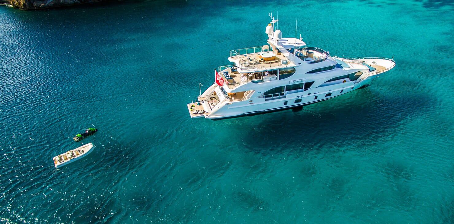 Motor Yacht LULU Aerial Profile