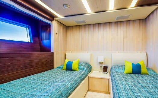 Motor Yacht LULU Guest Twin Stateroom