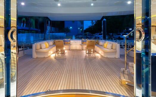 Motor Yacht Man of Steel Saloon to Aft Doors