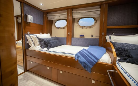 Motor Yacht Man of Steel Twin Stateroom
