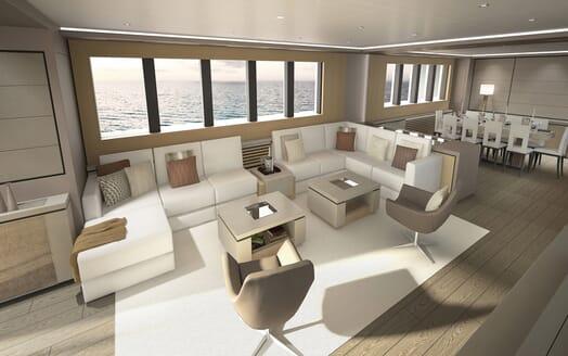 Motor Yacht OCEA X 47 main saloon