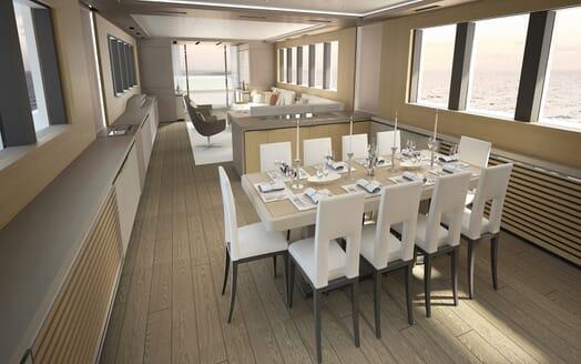 Motor Yacht OCEA X 47 dining area
