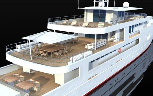 Motor Yacht OCEA X 47 aft
