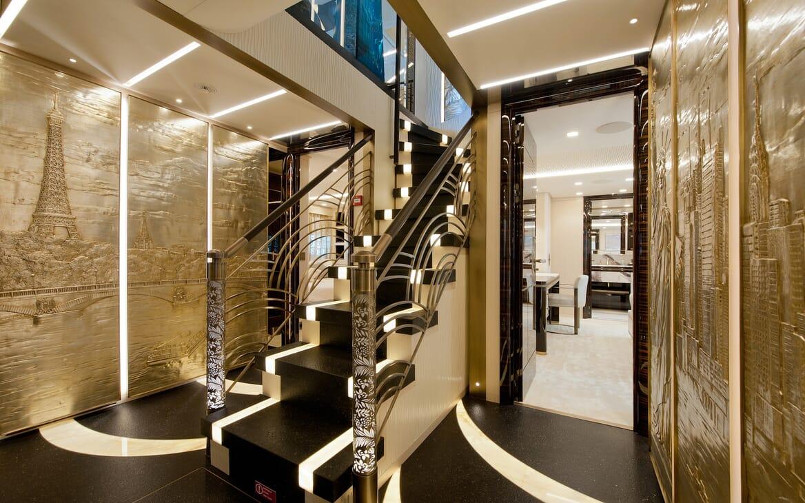 Motor Yacht Scorpion stairwell