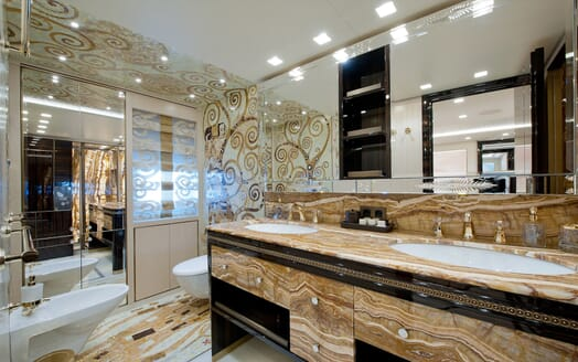 Motor Yacht Scorpion washroom