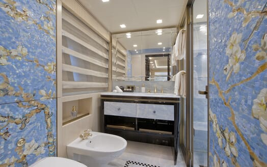 Motor Yacht Scorpion guest bathroom