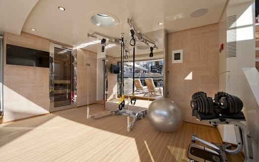 Motor Yacht Scorpion gym