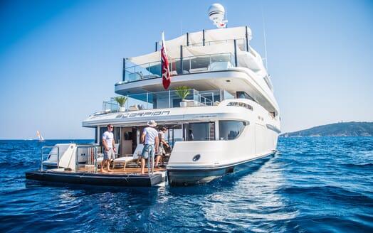 Motor Yacht Scorpion aft shot