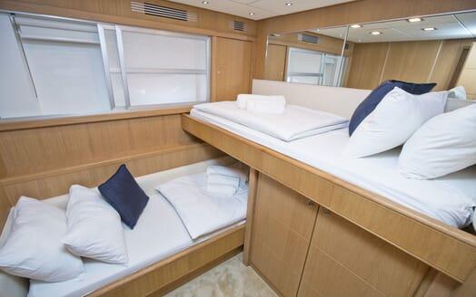 Motor Yacht Malibu twin stateroom