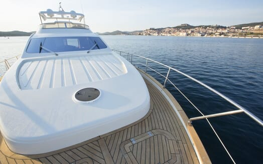 Motor Yacht Malibu foredeck